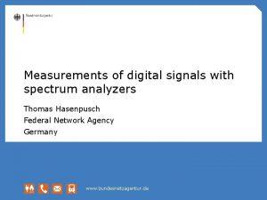 Measurements of digital signals with spectrum analyzers Thomas
