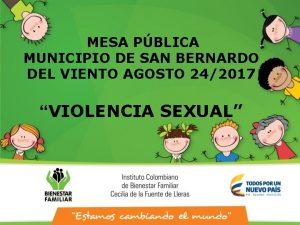 MESA PBLICA MUNICIPIO DE SAN BERNARDO DEL VIENTO