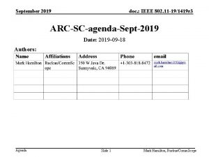 September 2019 doc IEEE 802 11 191419 r