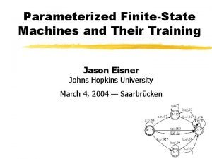 Parameterized FiniteState Machines and Their Training Jason Eisner