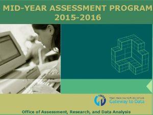 MIDYEAR ASSESSMENT PROGRAM 2015 2016 Office of Assessment