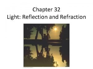 Chapter 32 Light Reflection and Refraction Concep Test