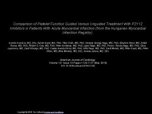 Comparison of Platelet Function Guided Versus Unguided Treatment