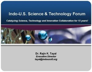 IndoU S Science Technology Forum Catalyzing Science Technology