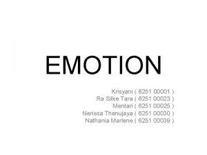 EMOTION Krisyani 6251 00001 Ra Silke Tara 6251
