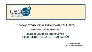 CONVOCATORIA DE SUBVENCIONES 2018 2020 AYUDAS FSE A