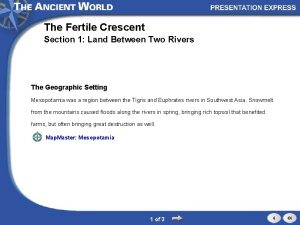 The Fertile Crescent Section 1 Land Between Two