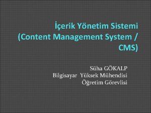 erik Ynetim Sistemi Content Management System CMS Sha