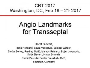 CRT 2017 Washington DC Feb 18 21 2017