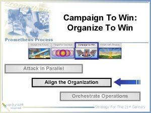 Campaign To Win Organize To Win Prometheus Process