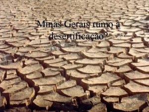 Minas Gerais rumo desertificao O Brasil signatrio da
