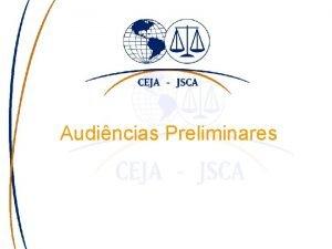 Audincias Preliminares Projeo fatos na justia criminal 1