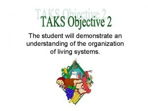 The student will demonstrate an understanding of the
