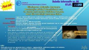 DRIMPAP Compartimentul Metodologie i Sintez Legea nr 1083