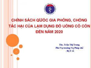 CHNH SCH QUC GIA PHNG CHNG TC HI