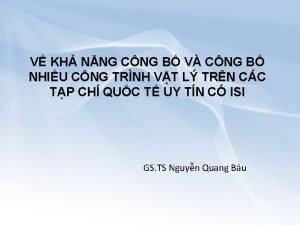 V KH NNG CNG B V CNG B