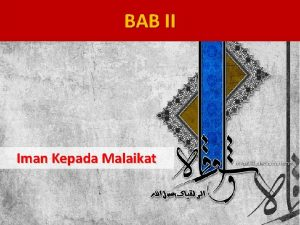 BAB II Iman Kepada Malaikat Peta Konsep konsep