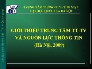 TRUNG TM THNG TIN TH VIN hqghn TRUNG