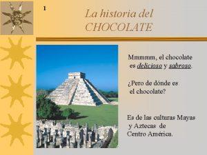 1 La historia del CHOCOLATE Mmmmm el chocolate