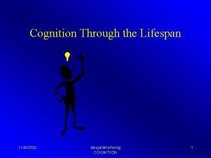 Cognition Through the Lifespan 1162020 desjardinshonig COGNITION 1