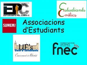 Associacions dEstudiants Qui som Som representants electes dels