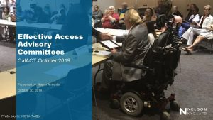 Effective Access Advisory Committees Cal ACT October 2019