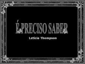 Letcia Thompson H coisas que ningum nos ensina