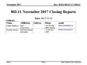 November 2017 doc IEEE 802 11 171561 r