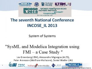 The seventh National Conference INCOSEIL 2013 System of