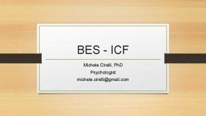 BES ICF Michele Cirelli Ph D Psychologist michele