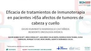 Eficacia de tratamientos de Inmunoterapia en pacientes 65