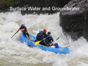 Surface Water and Groundwater Running Water and Groundwater