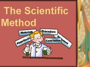 The Scientific Method What is the Scientific Method