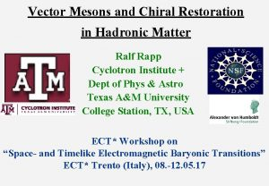 Vector Mesons and Chiral Restoration in Hadronic Matter