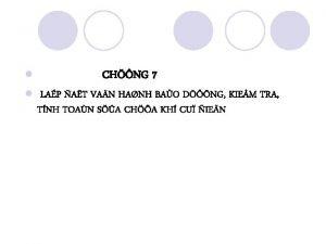 l l CHNG 7 LAP AT VAN HANH