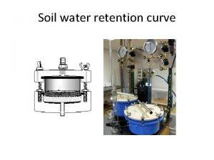 Soil water retention curve Soil water retention curve