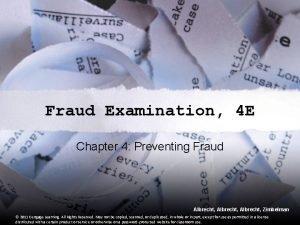 Fraud Examination 4 E Chapter 4 Preventing Fraud