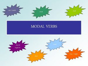 can could shall must MODAL VERBS need should