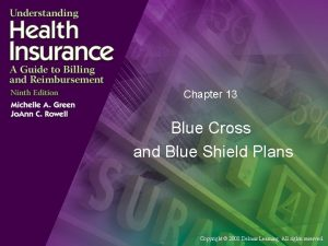 Chapter 13 Blue Cross and Blue Shield Plans