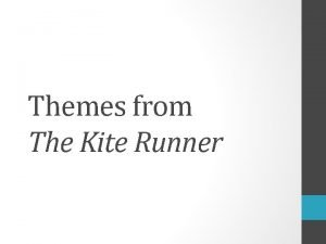 Themes from The Kite Runner Themes from The