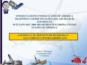 UNITED NATIONS UNITED STATES OF AMERICA TRAINNING COURSE
