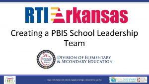 Creating a PBIS School Leadership Team Images in