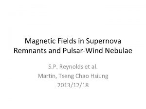 Magnetic Fields in Supernova Remnants and PulsarWind Nebulae