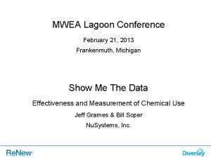 MWEA Lagoon Conference February 21 2013 Frankenmuth Michigan
