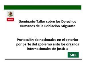 SeminarioTaller sobre los Derechos Humanos de la Poblacin