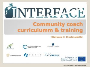 Community coach curriculumm training Stefana G Kristinsdttir Project