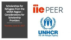 Scholarships for Refugees from the MENA Region Considerations