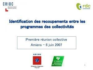 Identification des recoupements entre les programmes des collectivits