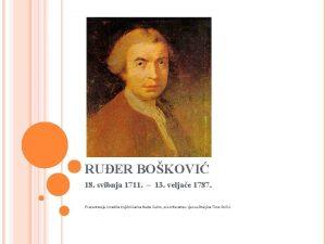 RUER BOKOVI 18 svibnja 1711 13 veljae 1787