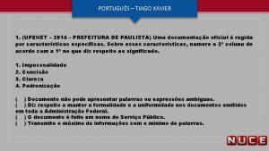 PORTUGUS TIAGO XAVIER 1 UPENET 2014 PREFEITURA DE